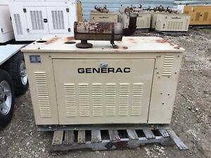 Generac Propane Generator 15kw Single Phase Weather Proof Enclosure 875 Hours
