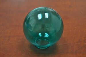 Reproduction Turquoise Glass Float Fishing Ball With Hole 3 F 458h