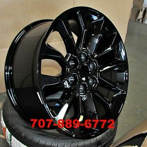 20x9 Raptor Style Wheels Gloss Black Rims Fits Ford F150 Lincoln Navigator 6x135