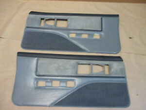 85 90 Firebird Trans Am Dlxe Door Panels Gray Cloth Pw Lh Rh Pair 0207 7