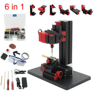 6 In 1 Mini Diy Wood Metal Motorized Lathe Grinder Driller Miller Machine Us Ce