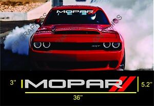 Dodge Challenger Charger Windshield Sticker Logo Vinyl Decals Silver And Red