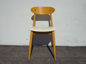 Chair Desk Office Seating Stool Mid Century Modern Student Wood Lounge Bench
