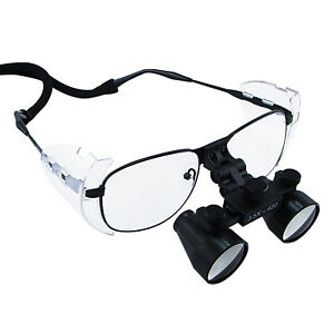 Galilean Style Titanium Frame 3 5x Magnification Dental Loupes 60mm Field View