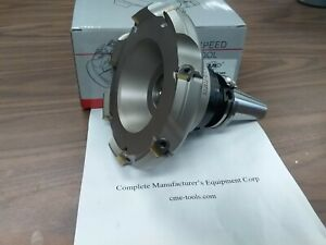 6 45 Degree Indexable Face Shell Mill Face Milling Cutter W Sean42aftn Cat40