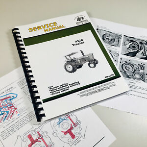 Service Manual For John Deere 4320 Tractor Technical Shop Book Tm 1029 Color Pgs
