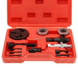 A C Compressor Clutch Remover Air Conditioner Ac Automotive Auto Puller Tool Kit