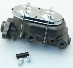 Universal 1 Bore Master Cylinder For Power Or Manual Brakes W Chrome Lid