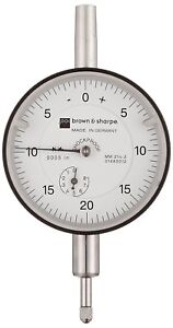 Brown Sharpe Agd Dial Indicator 0 0 35 0 0005 0 20 0 Balanced Reading