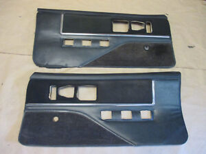 82 Firebird Trans Am Dlxe Door Panels Black Cloth Lh Rh Pair 0209 2