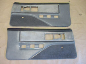 85 90 Firebird Trans Am Dlxe Door Panels Gray Cloth Pw Lh Rh Pair 0209 7
