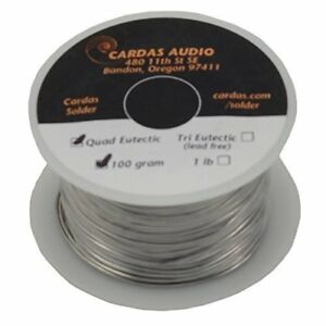 Cardas Welding Equipment Accessories Soldering Wire Quad Eutectic Silver With