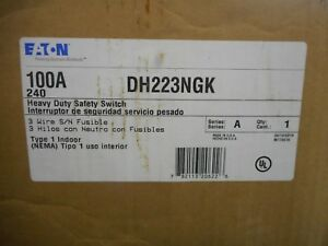 Eaton Dh223ngk 100 Amp 240 Volt Indoor Fusible Safety Switch Disconnect