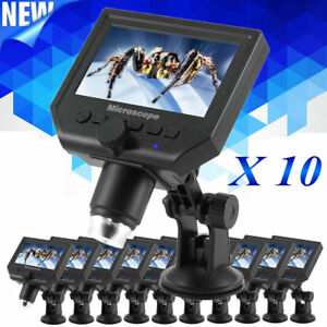 10 Pack G600 1 600x Magnification 8 led Microscope 4 3 Hd Oled Jewelry Lot To