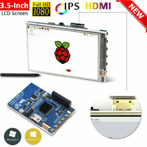 1080p Ips 3 5 Inch Hdmi Lcd Screen Display For Raspberry Pi W Acrylic Case