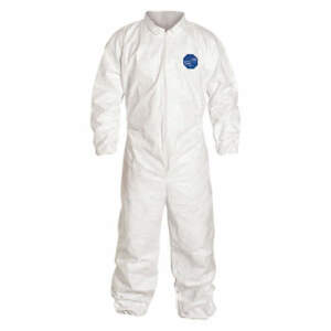 Tyvek Ty125s Coveralls With Elastic Wrist Ankle 1 suit
