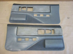 85 90 Firebird Trans Am Dlxe Door Panels Gray Cloth Pw Lh Rh Pair 0210 8