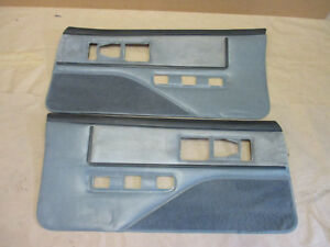85 90 Firebird Trans Am Dlxe Door Panels Gray Cloth Pw Lh Rh Pair 0215 2