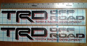 Toyota Trd Off Road 4x4 Decal Sticker Tacoma Tundra Set