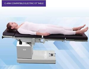 C arm Compatible Electric Ot Table With Up Down Left Right N Flex Position
