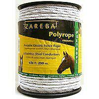 Zareba Pr656w6 z Poly Rope For Use With Electric Fence 656 Ft Spool 2 In 820