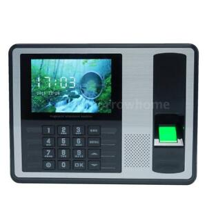 Portable 4 Inch Biometric Fingerprint Time Recorder Clock Attendance Salary O9u6