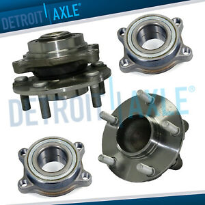Front And Rear Wheel Hub And Bearing For 2003 2004 2007 Nissan 350z Infiniti G35