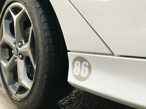 2 Custom Racing Number Decal Sticker Car Truck Boat Motorcycle You Design 0004