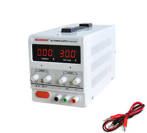 New Ms305d Variable Linear Adjustable Lab Dc Bench Power Supply 0 30v 0 5a 150w