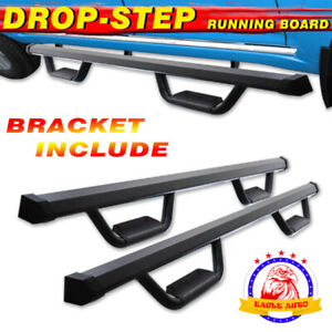 For 09 14 Ford F150 Super Crew Cab 3 Drop Running Board Side Step Nerf Bar Bd