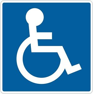 Handicap Parking Sign Disabled Symbol Die Cut Vinyl Decal Sticker Not A Sign
