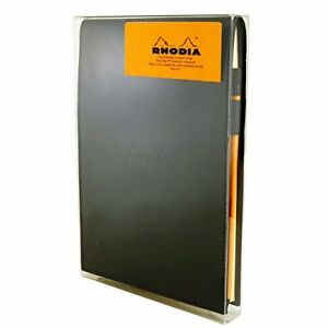 Rhodia Black Notepad Gift Set 6x8 75 Blank