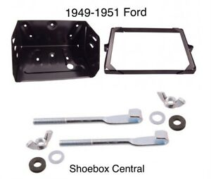 1949 1951 Ford Passenger Car Battery Tray Kit Complete