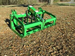 Mtl Attachments John Deere Compact Tractor 48 Root Rake Grapple Bucket free Ship