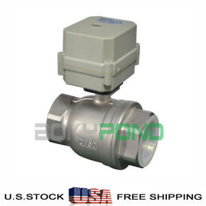 Npt 2 Motorized Valve Cr2 01 dc 24v Stainless Steel Electrical Ball Valve