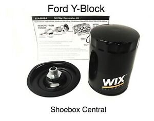 1954 64 Ford Y Block Spin On Oil Filter Conversion Kit