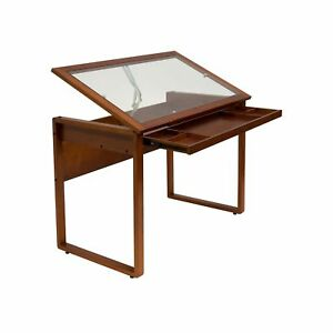 Studio Designs Ponderosa Glass Topped Table In Sonoma Brown 13280 Glass Top