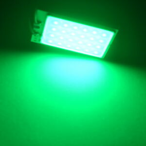 2pcs Green Smd Cob Led T10 4w 12v Light Car Interior Panel Light Dome Lamp Bulb