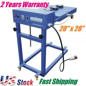 Us Stock 220v 12kw 20 x28 Automatic Flash Cure Unit For Screen Printing Machine