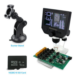 Bacoeng 4 3 Inch Hd Lcd Electronic Microscope With 16g Sd Card And 2 Mount Holde