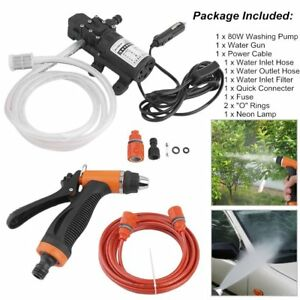 Electric Water Pump Car Washer Washing Machine With Cigarette Lighter Cable Us F