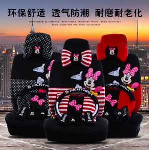 2018 New Listing Mickey Minnie Mouse Car Seat Covers Cushion Accessories 18pcs