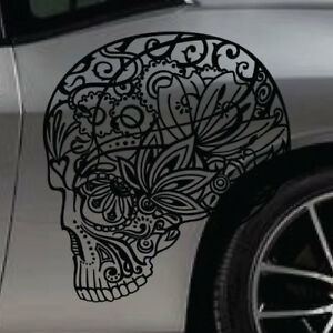 Sugar Skull Sticker Car Vinyl Decal Tailgate Suv Truck Vehicle Graphic Pickup