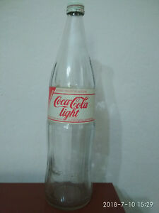 Extremely rare old bottle- 1 liter  Coca Cola light  -Made in Germany paper labe