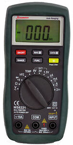 Sinometer Ms8221 Digital Ac dc Multimeter With Battery Tester And High Accuracy