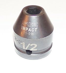 1 2 Inch Armstrong Usa 3 4 Inch Drive 6 Point Standard Impact Socket
