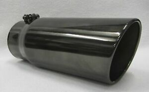 Ford Powerstroke Black Chrome Diesel Exhaust Tip 4 Id 5 Od 12 Long