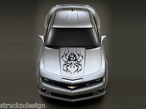 Spider Tribal Hood Graphic Sticker Decal Suv Car Reflective Vehicle Camo Camaro