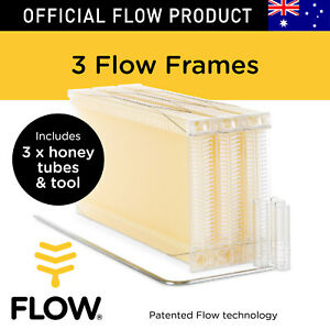 Flow Bee Frames 3 Pcs Honey Tubes W Tool For Flow Hive Super Classic Beehive