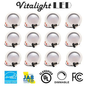12 X 4 Inch 9w Led Downlight Trim Recessed Dimmable Retrofit Down Can Light 60pk